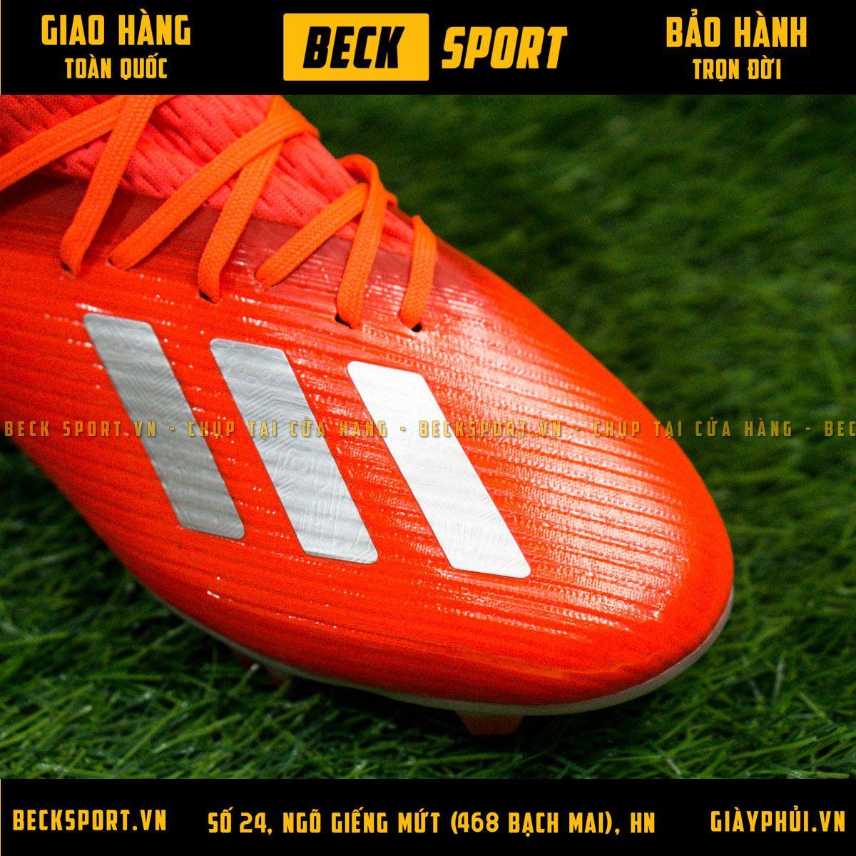 Giày Bóng Đá Adidas X 19.1 Đỏ Vạch Bạc Đế Bạc FG