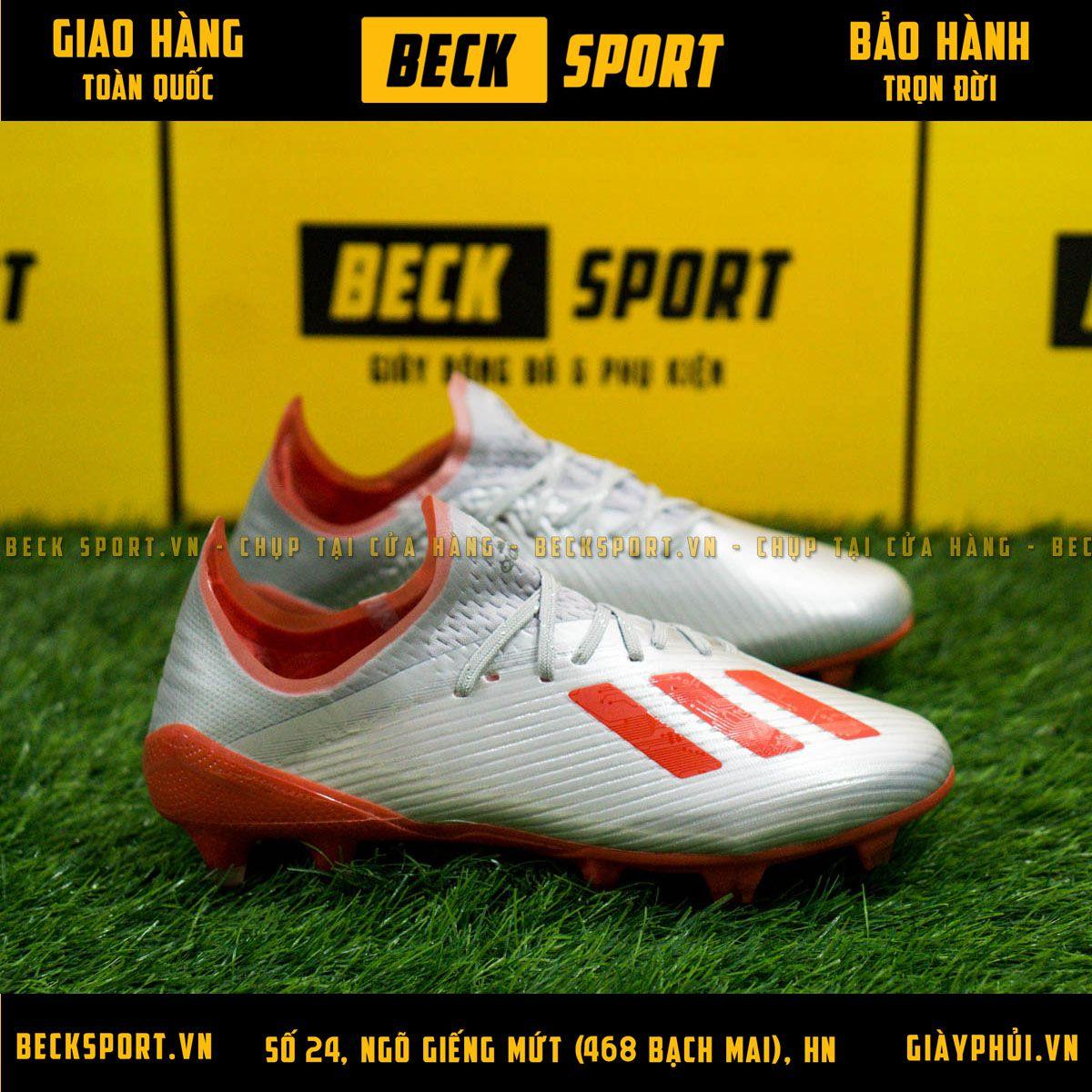 Giày Bóng Đá Adidas X 19.1 Xám Vạch Đỏ Đế Đỏ FG