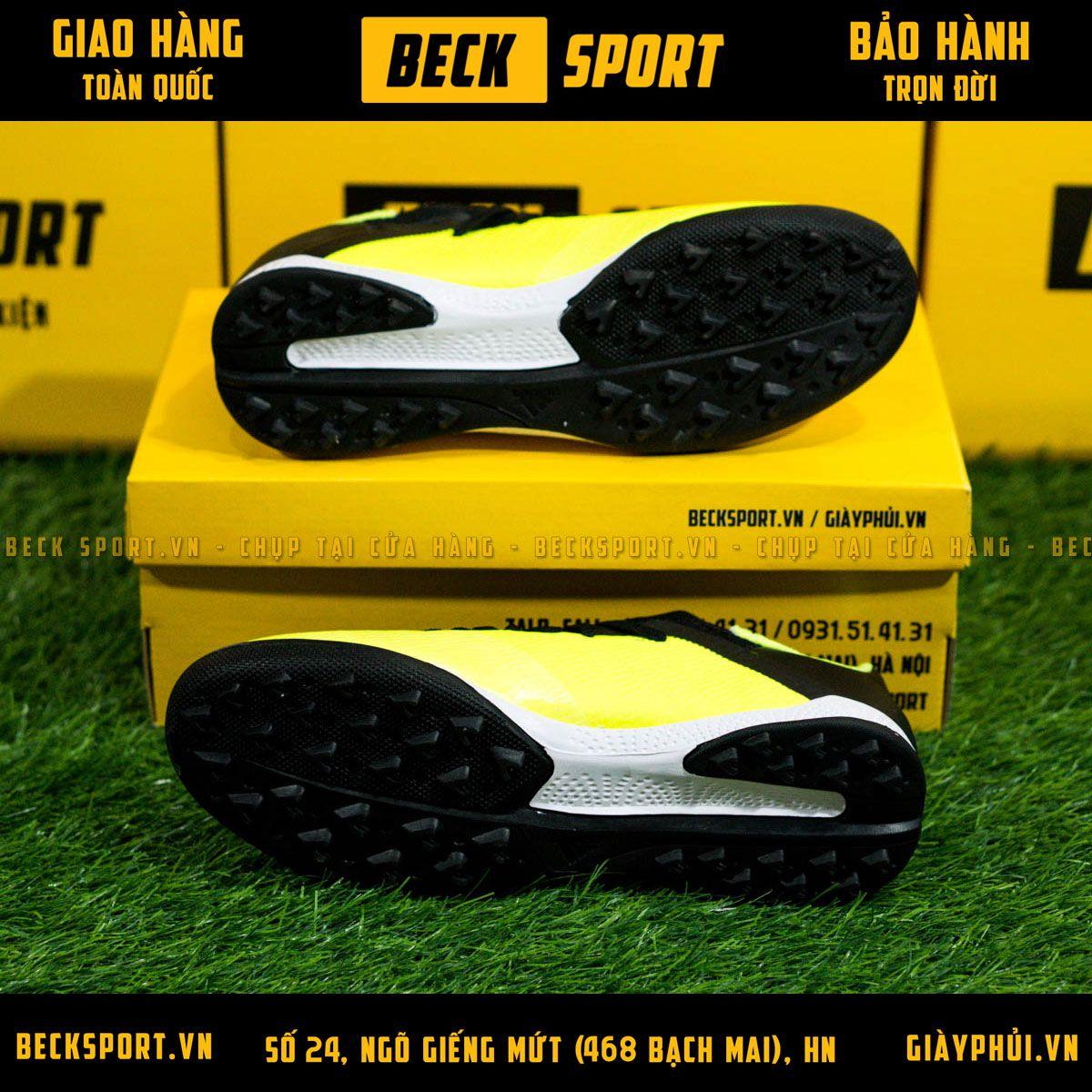 Giày Bóng Đá Adidas X 19.3 Nõn Chuối Vạch Đen TF
