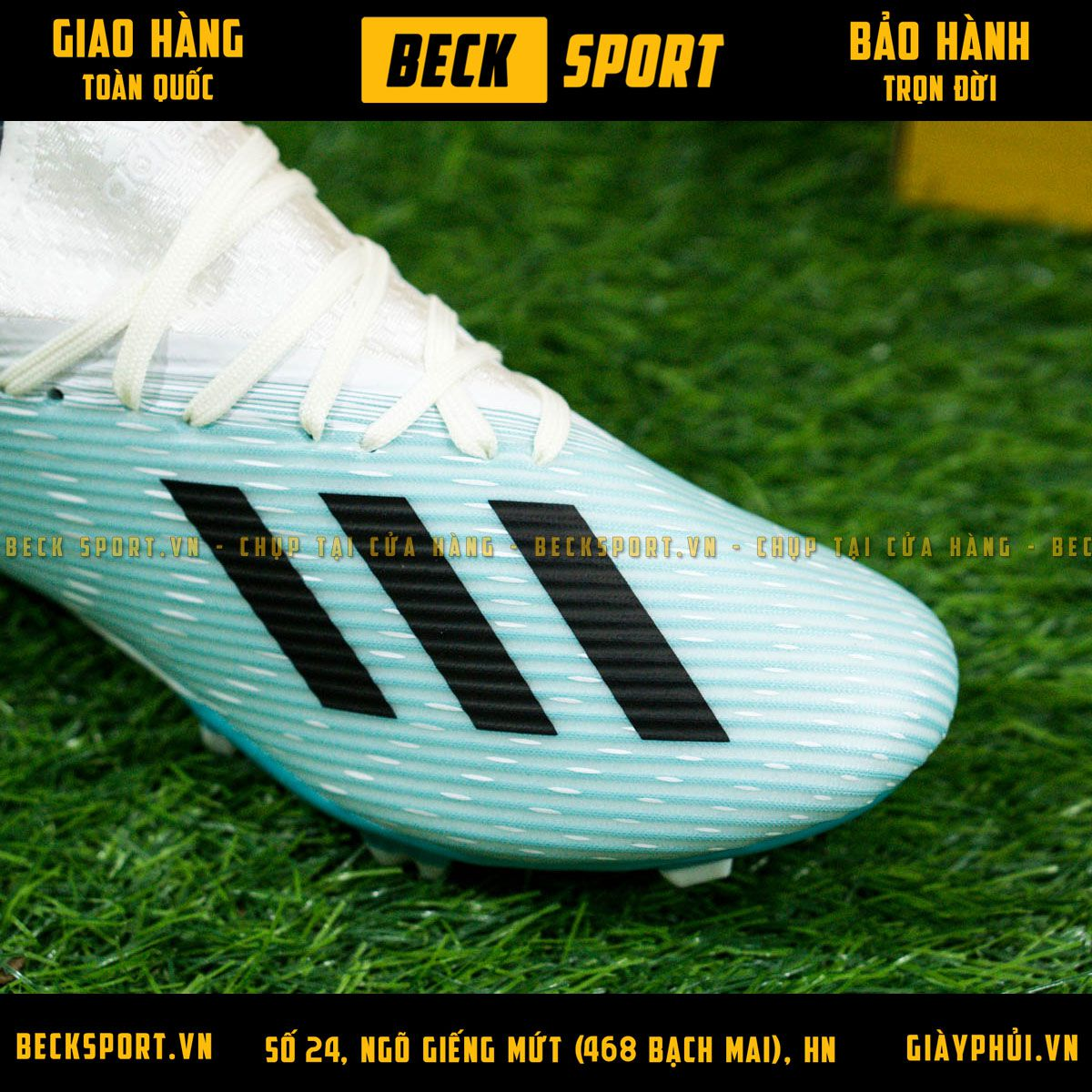Giày Bóng Đá Adidas X 19.3 Xanh Biển Gót Trắng Đế Xanh Biển FG