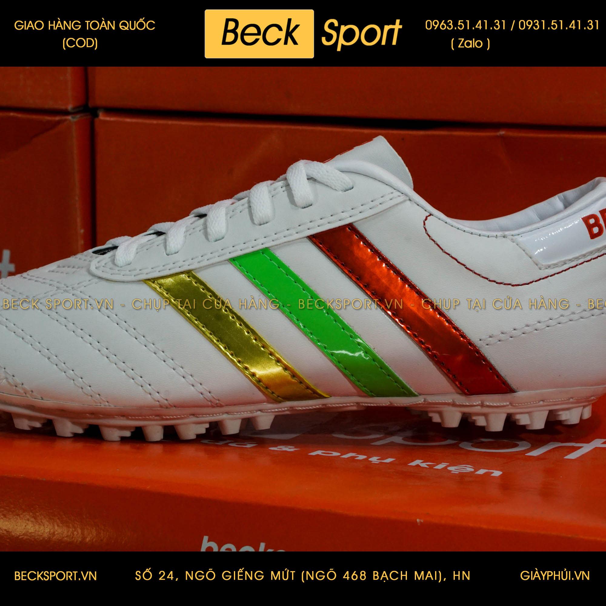 Giày Phủi 3 Sọc Loại 1 - Beck Quốc Kì Bồ Đào Nha