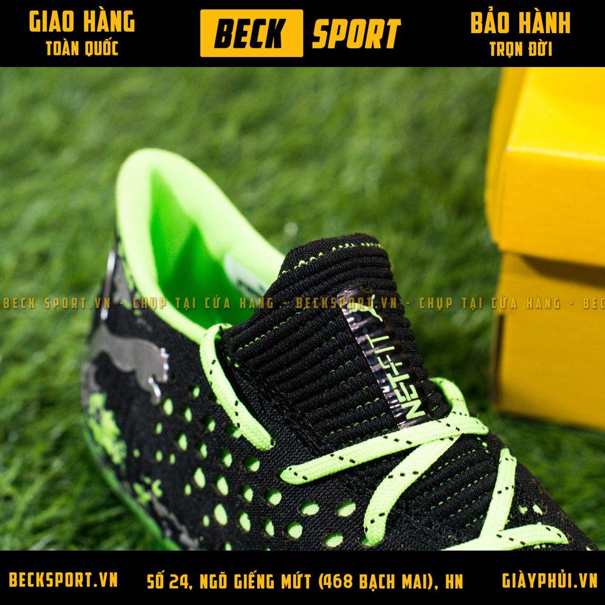 Giày Bóng Đá Puma Future 19.1 Đen Đế Xanh Lá Cổ Chun FG