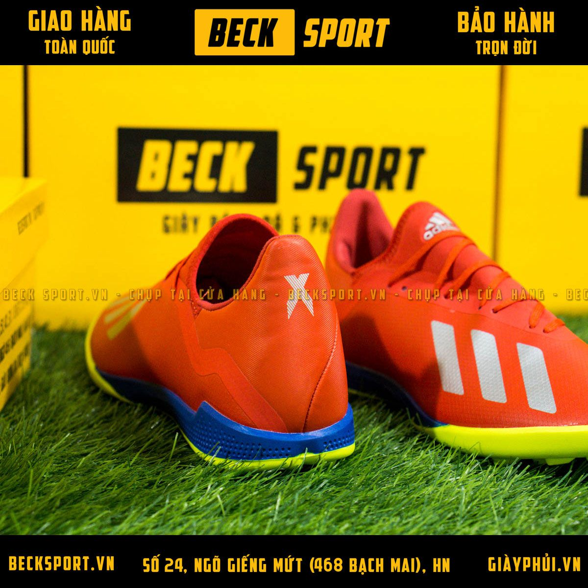 Giày Bóng Đá Adidas X 18.3 Đỏ Vạch Bạc Đế Chuối TF