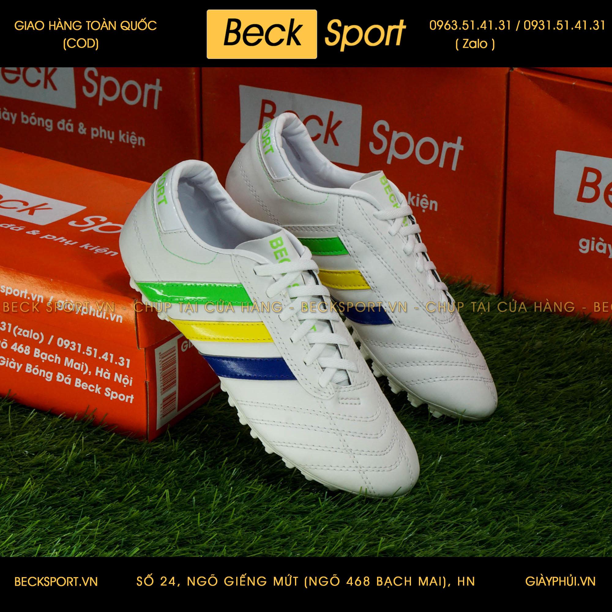 Giày Phủi 3 Sọc Loại 1 - Beck Quốc Kì Brazil