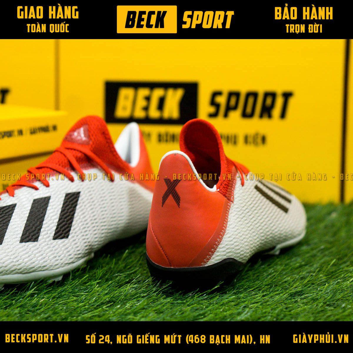 Giày Bóng Đá Adidas X 19.3 Xám Vạch Đen Gót Đỏ FG