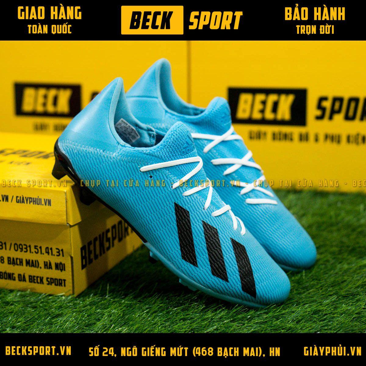 Giày Bóng Đá Adidas X 19.3 Xanh Biển Vạch Đen FG