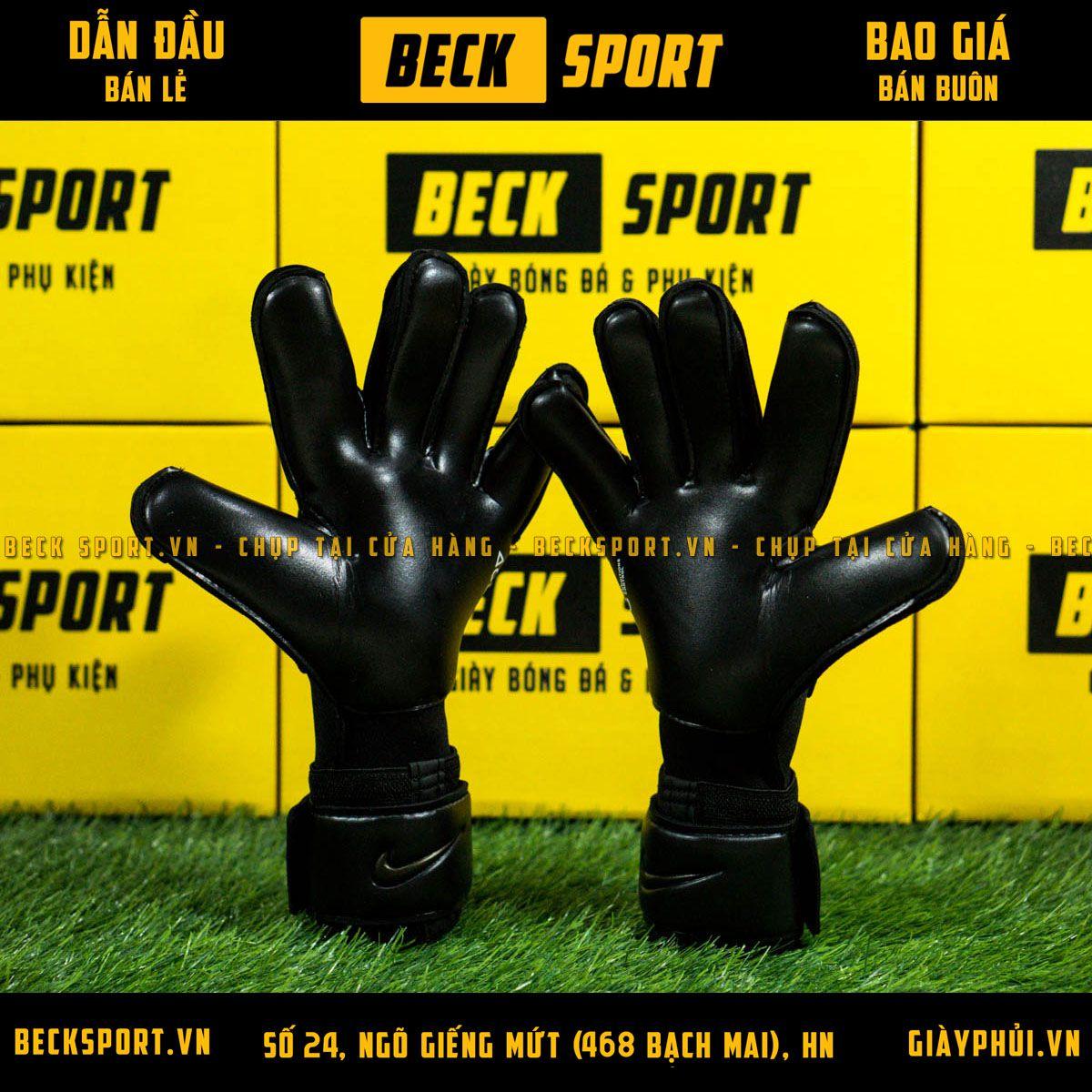 Găng Tay Nike Vapor Grip 3 Đen Vạch Đồng ( Không Xương)