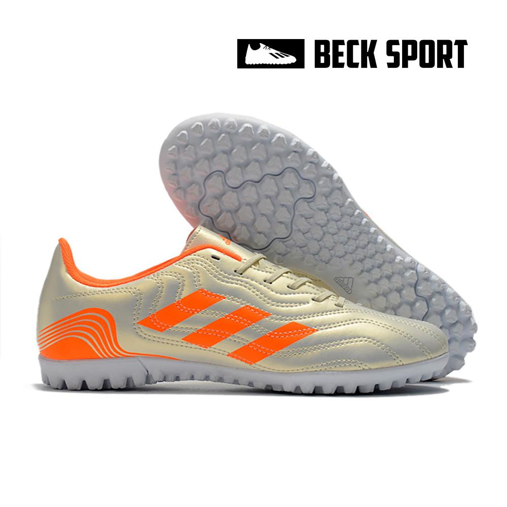 Giày Bóng Đá Adidas Copa Sense.4 Trắng Ngà Vạch Cam TF