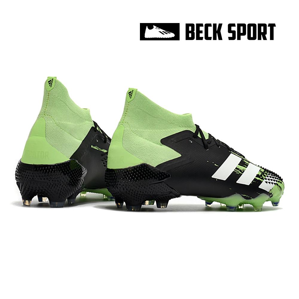 Giày Bóng Đá Adidas Predator 20.1 Đen Mũi Xanh Lá Vạch Trắng Cổ Cao FG