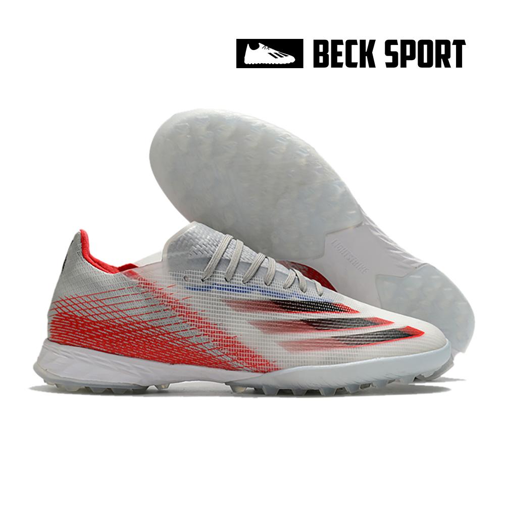 Giày Bóng Đá Adidas X Ghosted.1 EURO Xám Vạch Đỏ TF