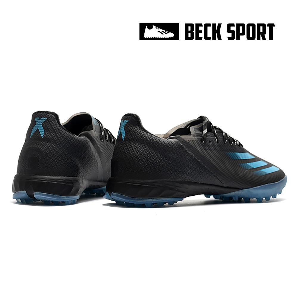 Giày Bóng Đá Adidas X Ghosted.1 Đen Vạch Xanh Biển TF