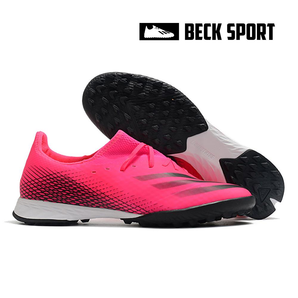 Giày Bóng Đá Adidas X Ghosted.3 Hồng Vạch Đen HQ TF