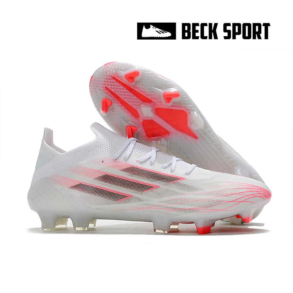 Giày Bóng Đá Adidas X Speedflow.1 Trắng Hồng Vạch Đen FG
