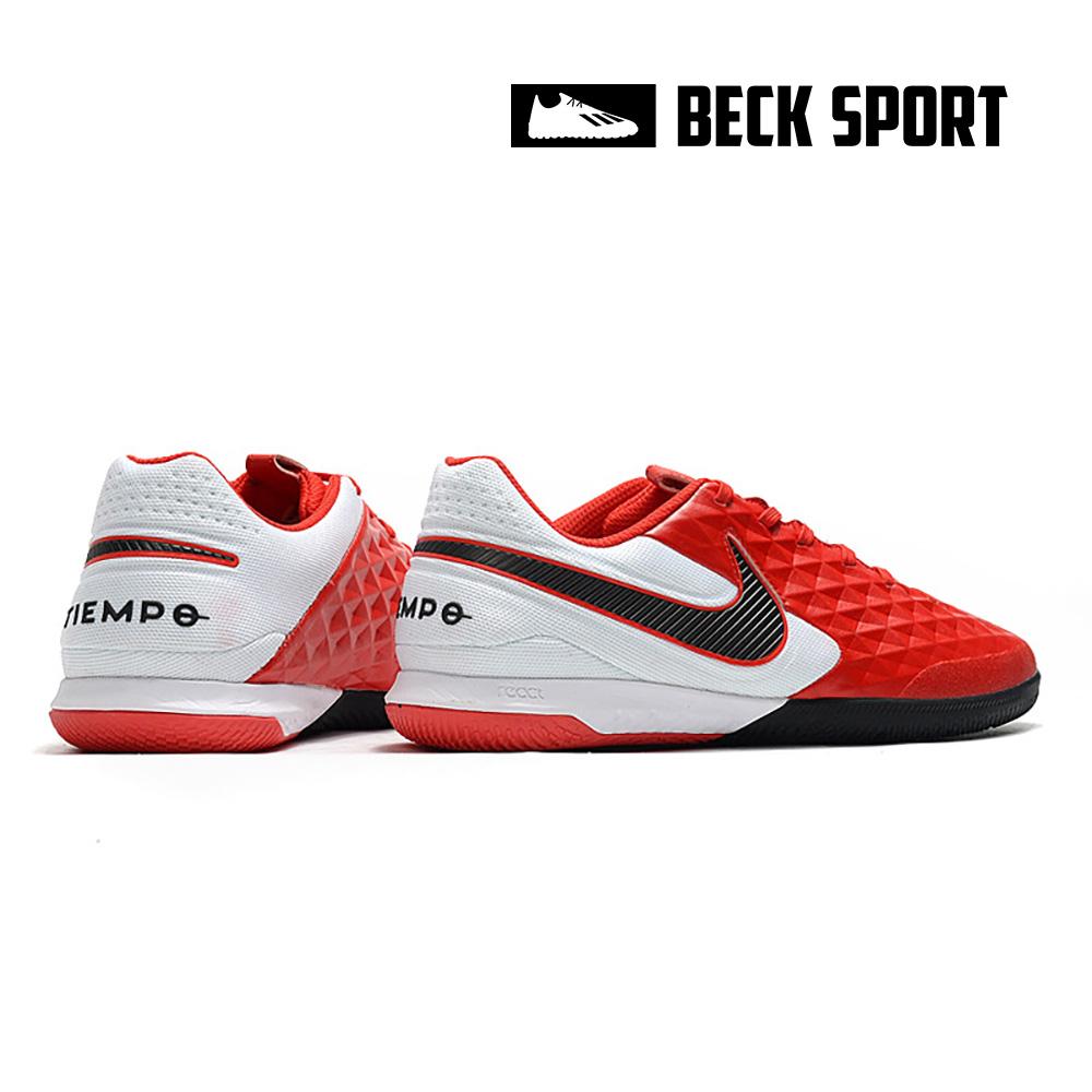 Giày Bóng Đá Nike Tiempo Legend 8 Pro Đỏ Gót Trắng Vạch Đen IC
