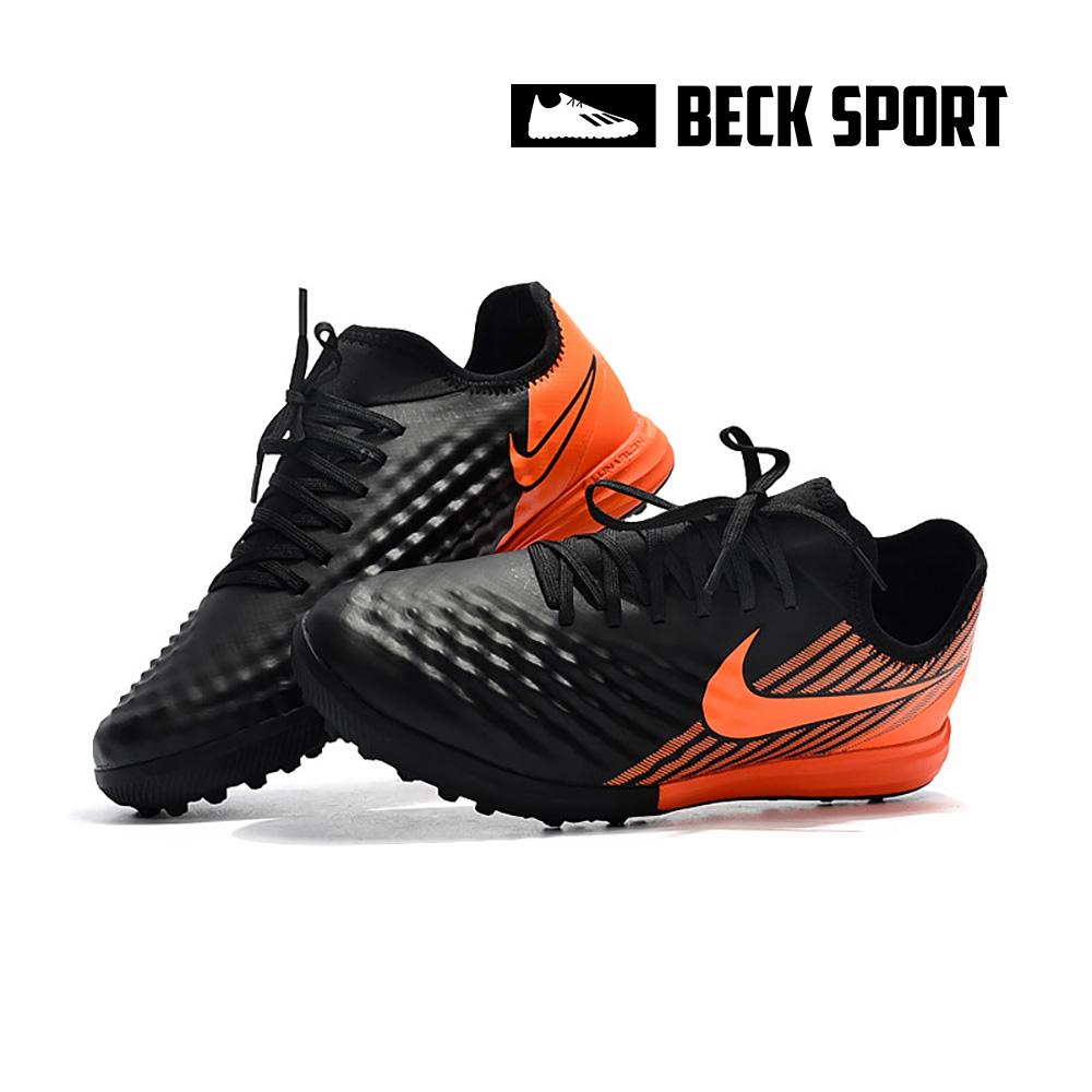 Giày Bóng Đá Nike MagistaX Finale Đen Gót Cam Cổ Chun TF