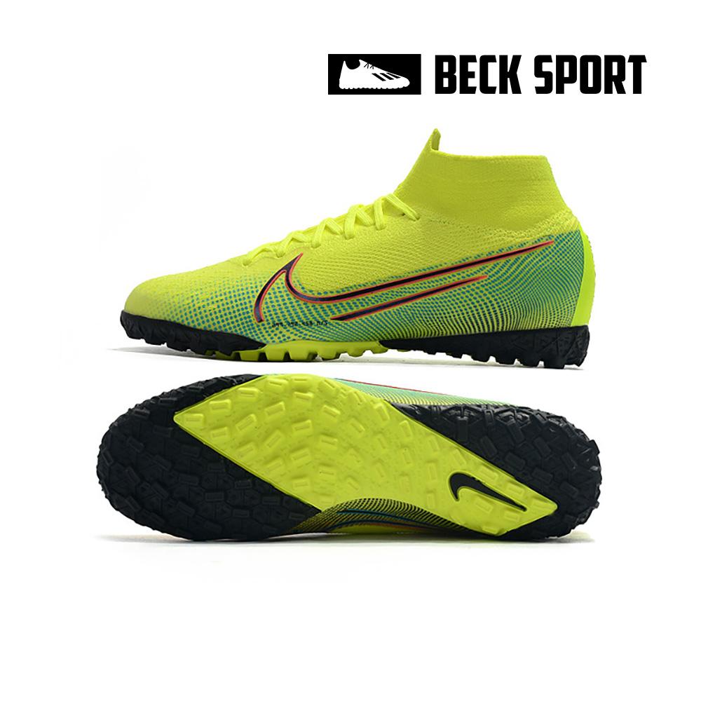 Giày Bóng Đá Nike Mercurial Dream Speed Superfly 7 Elite Nõn Chuối Xanh Ngọc Vạch Đen Cổ Cao TF