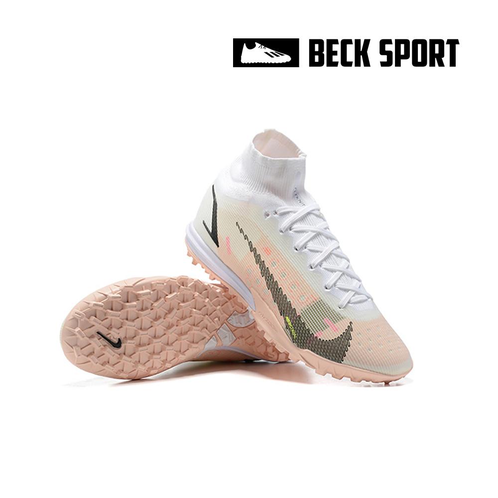 Giày Bóng Đá Nike Mercurial Superfly 8 Elite Tokyo Olympics Trắng Hồng Cổ Cao TF