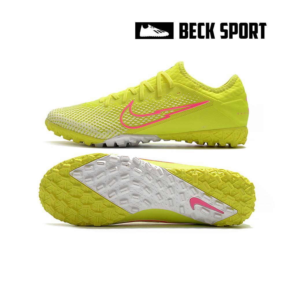 Giày Bóng Đá Nike Mercurial Vapor 13 Pro Nõn Chuối Vạch Hồng Cổ Lửng HQ TF
