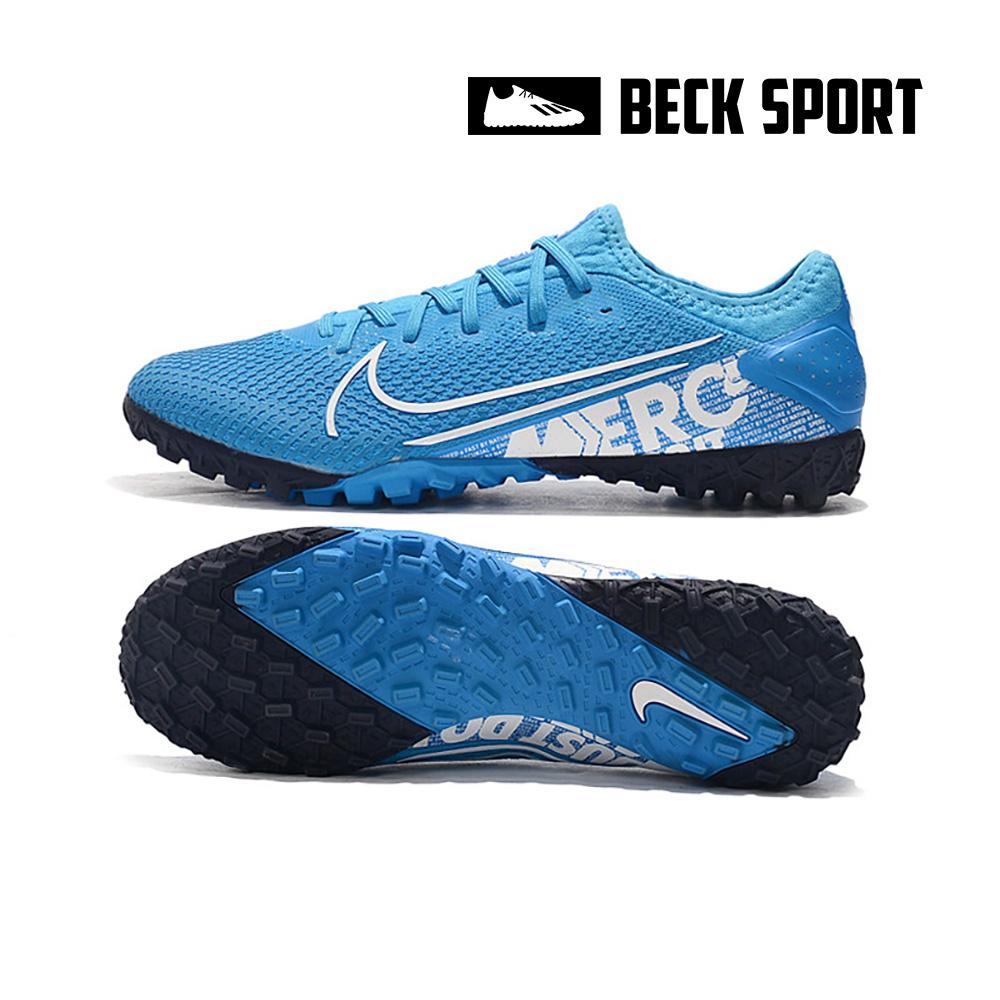 Giày Bóng Đá Nike Mercurial Vapor 13 Pro Xanh Biển Vạch Trắng HQ TF