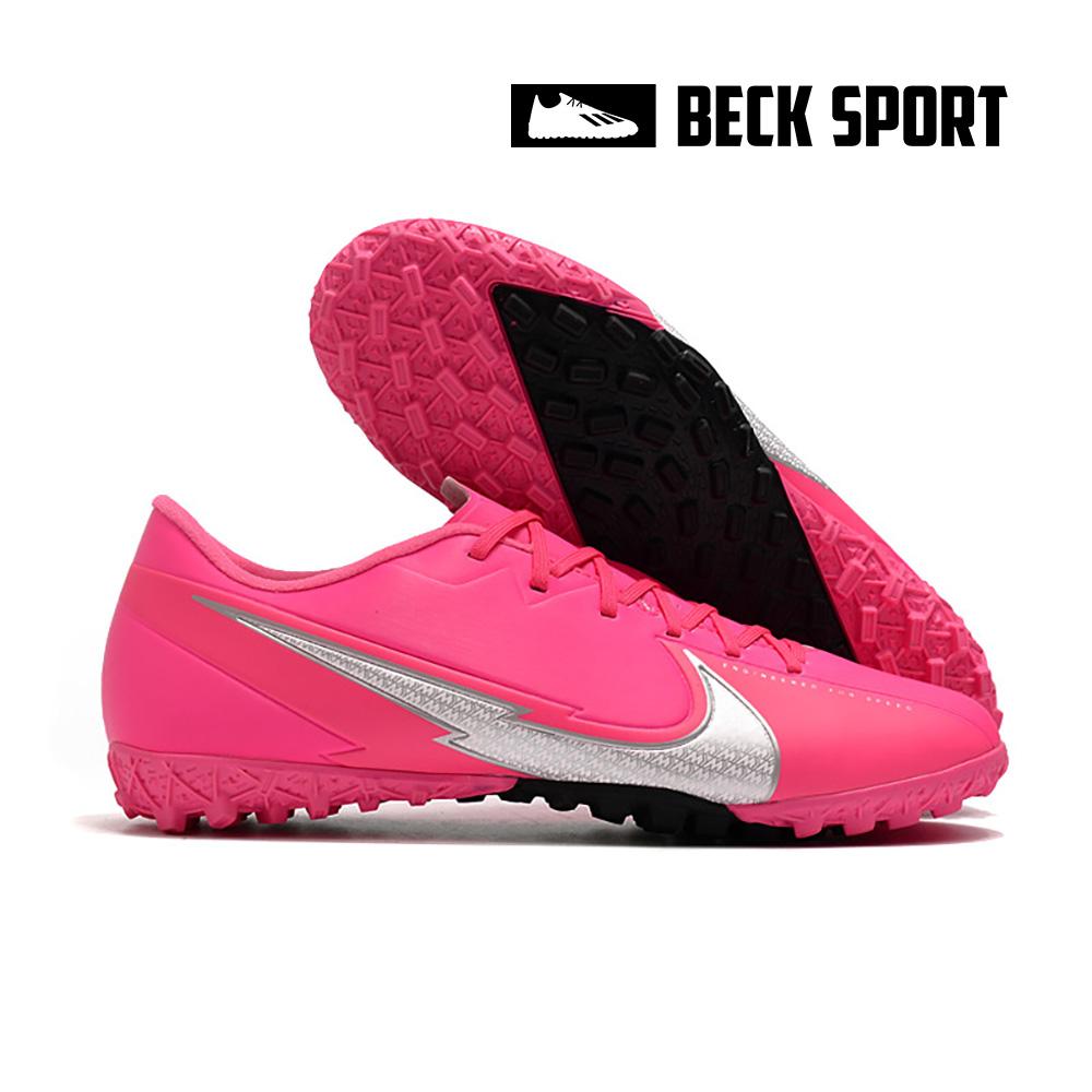 Giày Bóng Đá Nike Mercurial Vapor 13 Academy Mbappe Hồng Vạch Xám V2 TF
