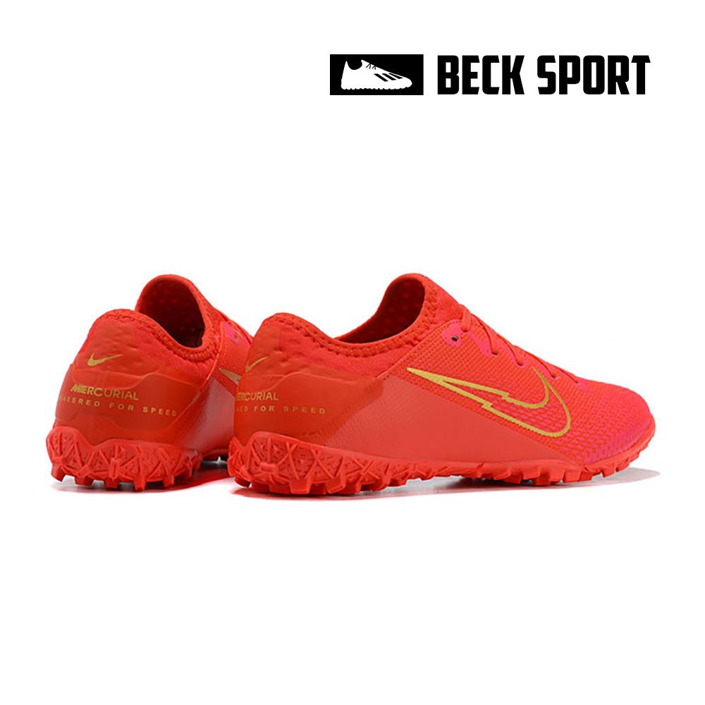 Giày Bóng Đá Nike Mercurial Vapor 13 Pro Đỏ Vạch Vàng V2 TF