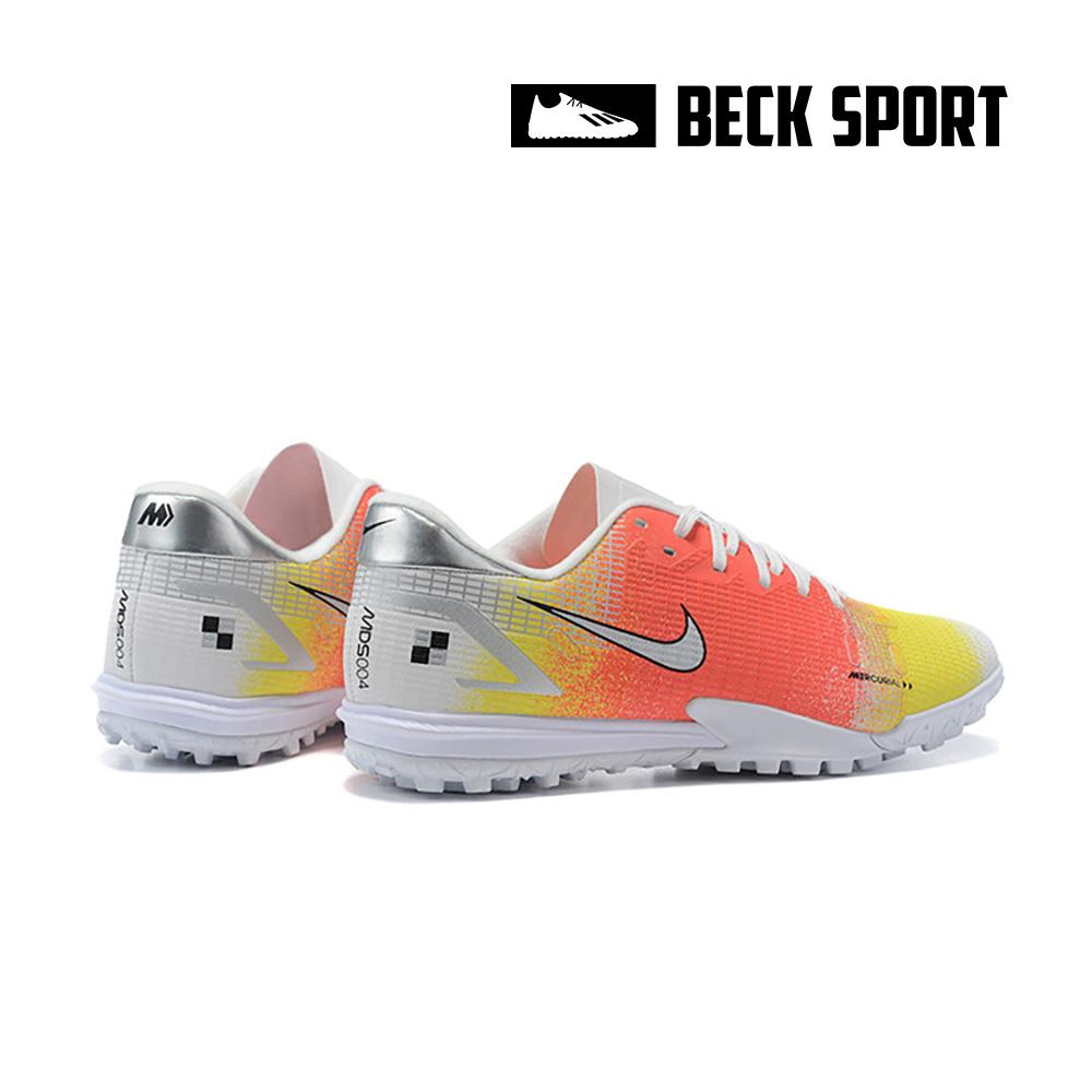 Giày Bóng Đá Nike Mercurial Vapor 14 Academy MDS004 Vàng Cam Trắng Vạch Xám HQ TF