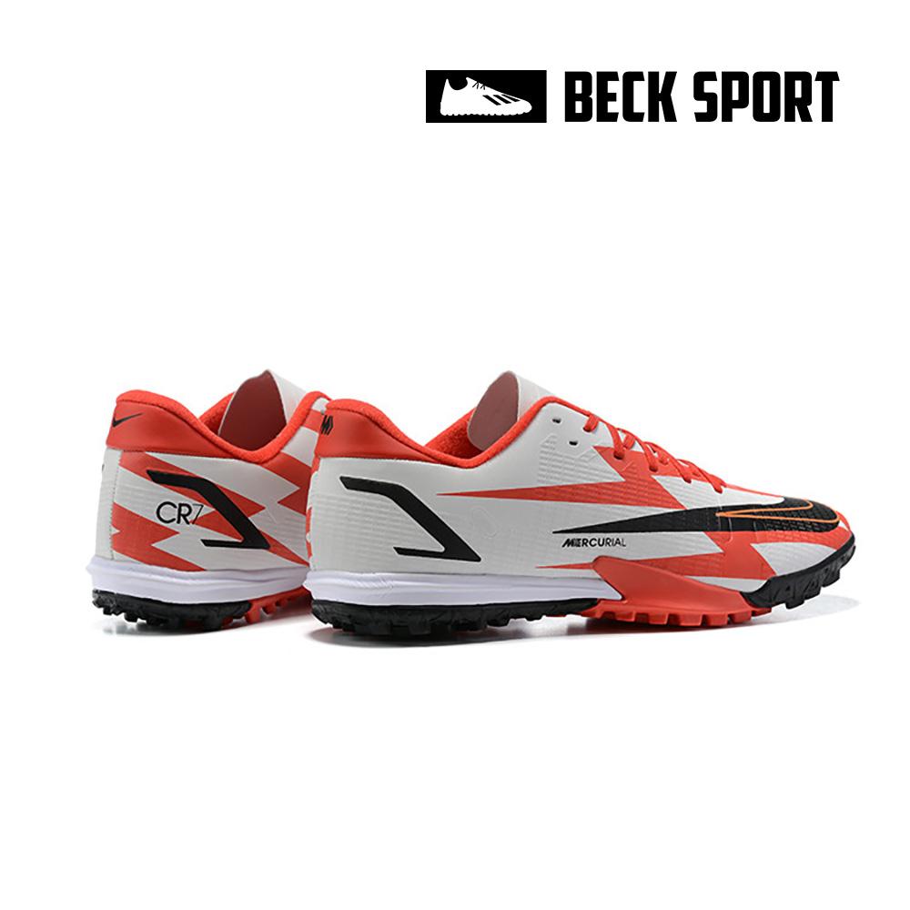 Giày Bóng Đá Nike Mercurial Vapor 14 Academy CR7 Trắng Đỏ EURO TF