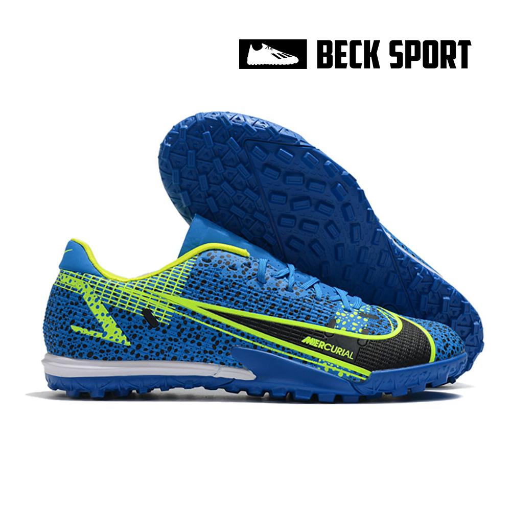 Giày Bóng Đá Nike Mercurial Vapor 14 Academy Safari Xanh Biển Đen Vạch Chuối V2 TF