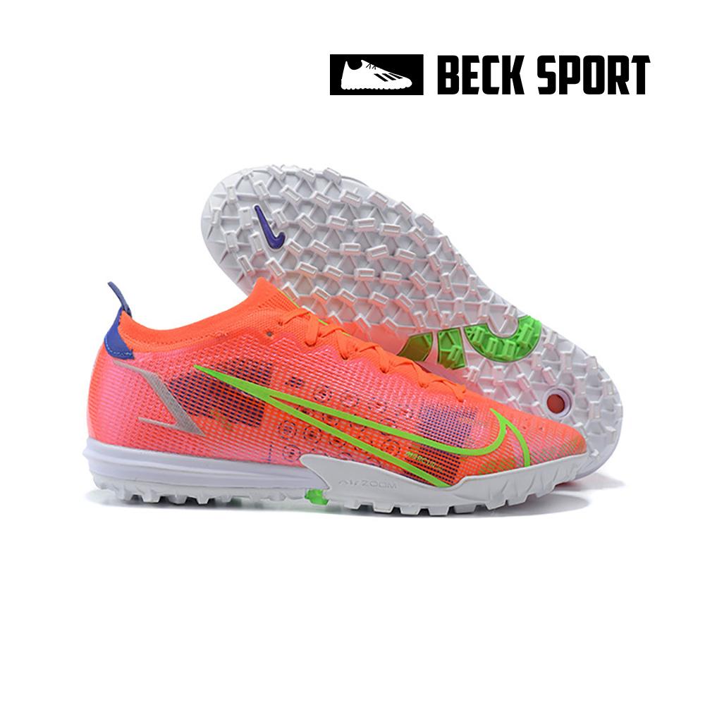 Giày Bóng Đá Nike Mercurial Vapor 14 Elite Đỏ Vạch Xanh Lá Cổ Lửng HQ TF