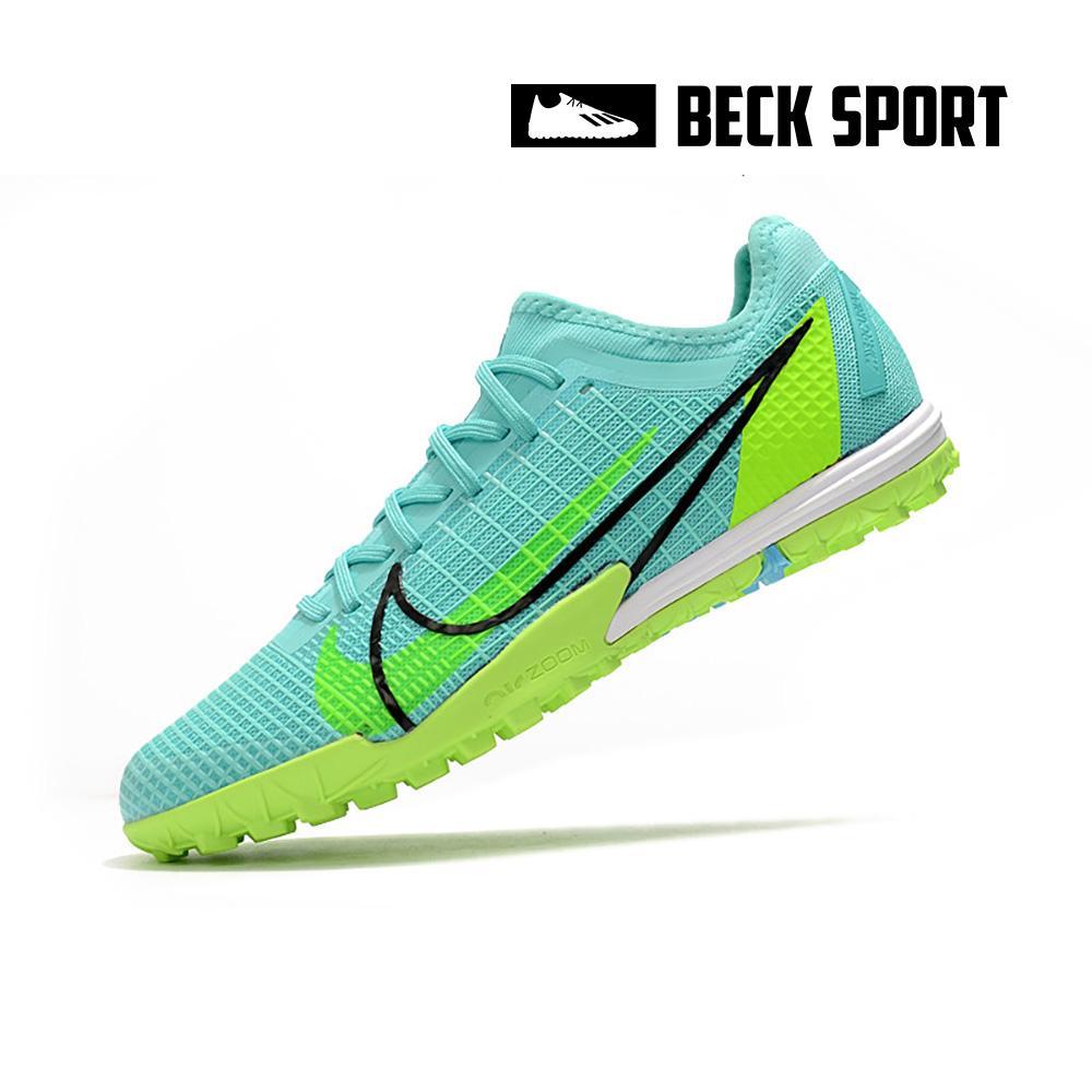 Giày Bóng Đá Nike Mercurial Vapor 14 Pro EURO Xanh Ngọc Cổ Lửng TF