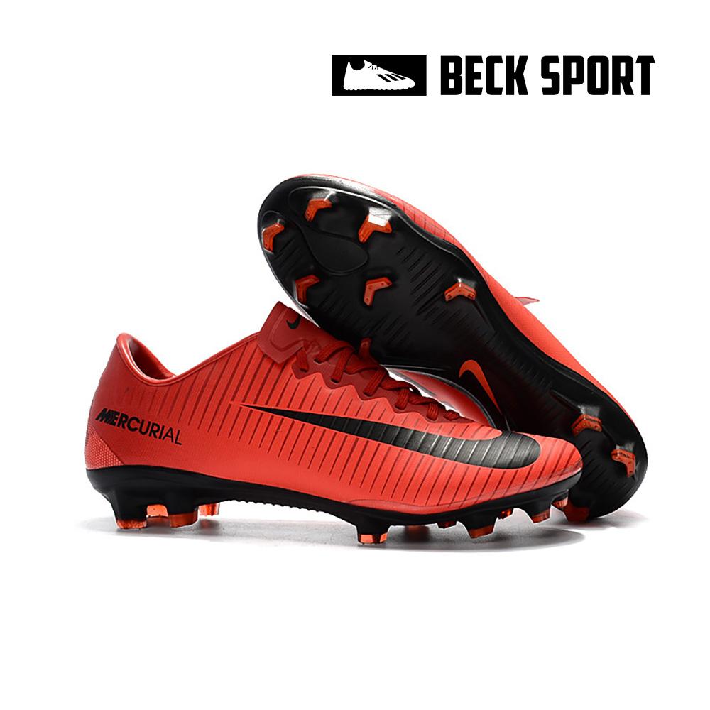 Giày Bóng Đá Nike Mercurial Victory VI Đỏ Vạch Đen Lưỡi Gà Liền FG