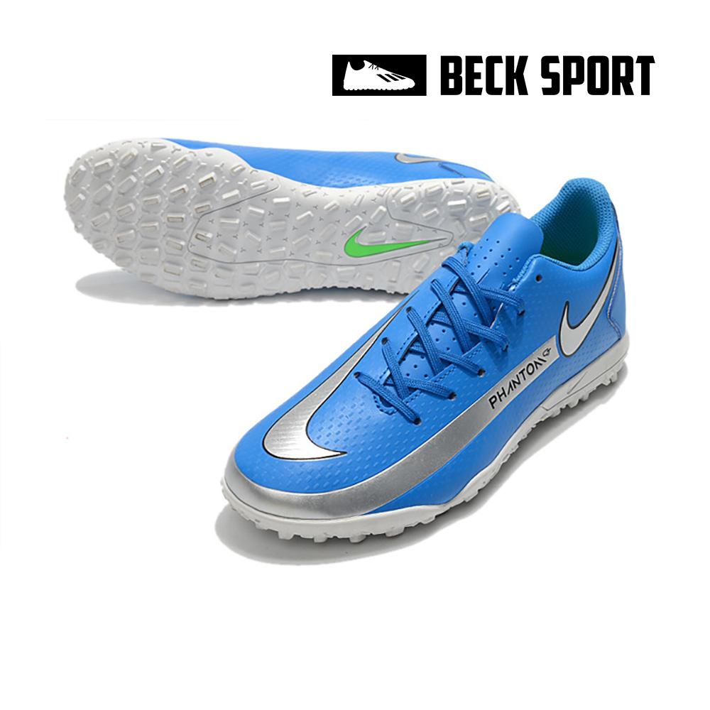 Giày Bóng Đá Nike Phantom GT Academy Xanh biển Vạch Xám TF