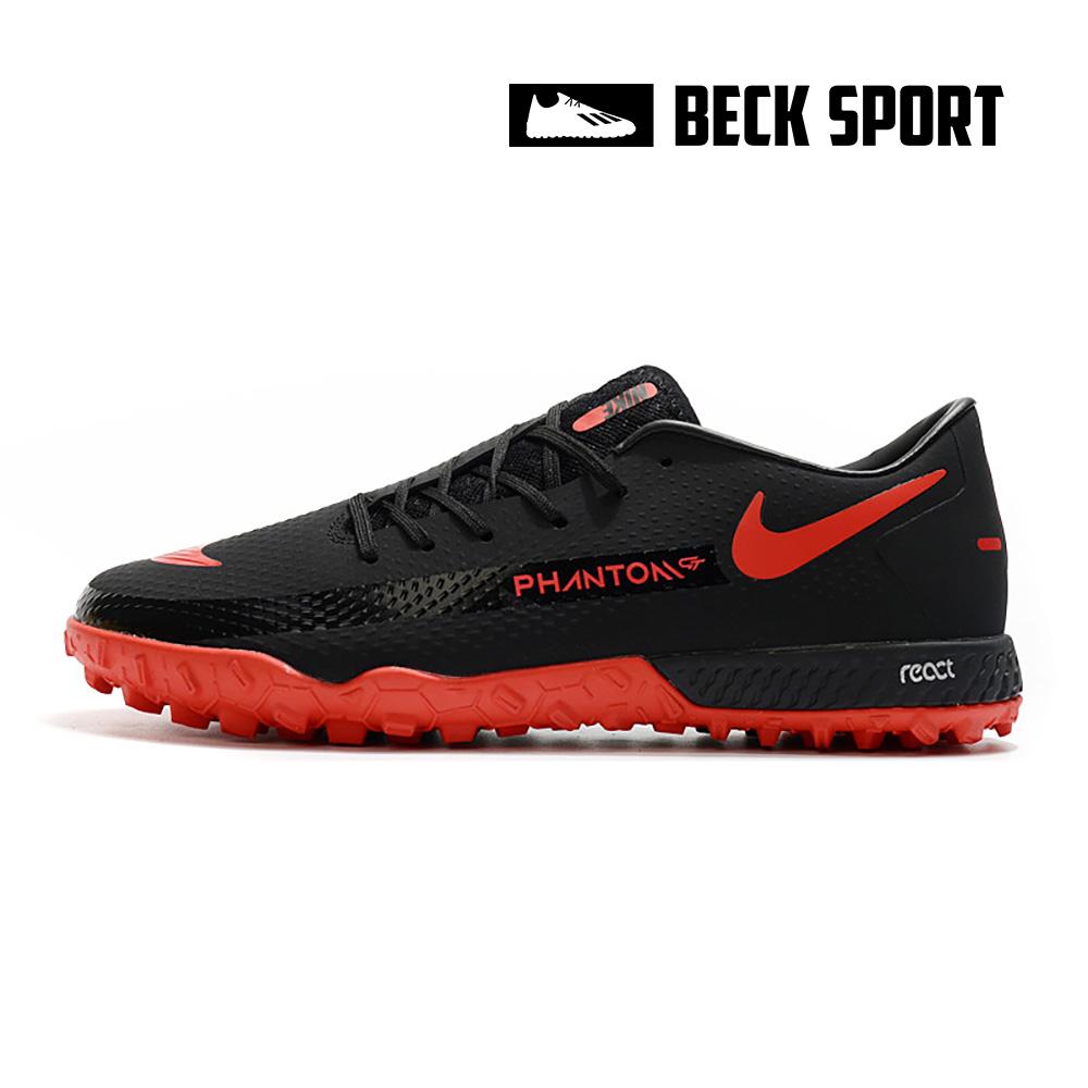 Giày Bóng Đá Nike React Phantom GT Pro Đen Vạch Đỏ TF