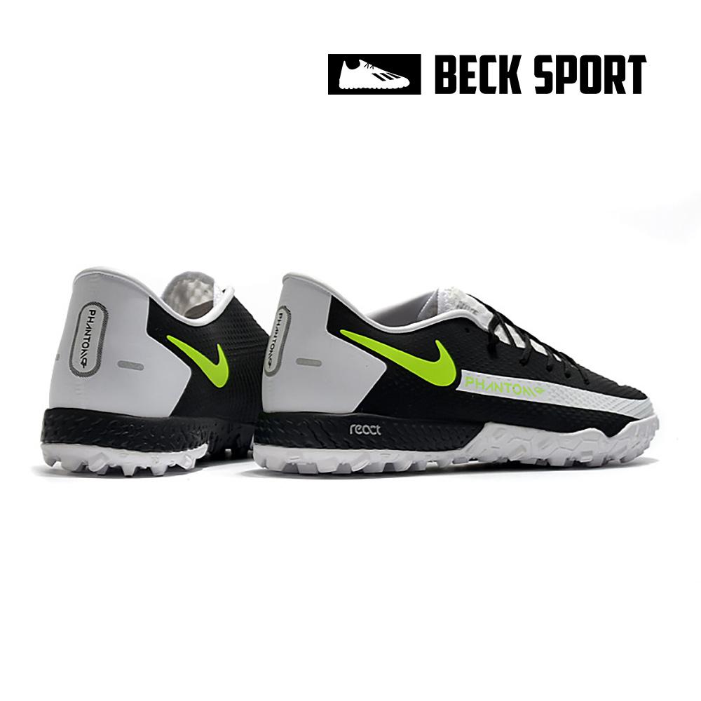 Giày Bóng Đá Nike React Phantom GT Pro Đen Vạch Trắng TF