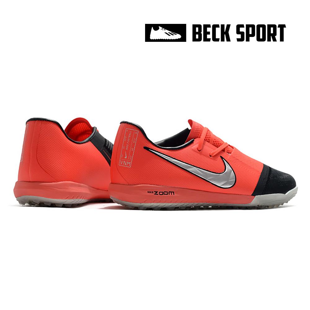 Giày Bóng Đá Nike Zoom Phantom VNM Pro Đỏ Đen Vạch Xám Giấu Dây TF