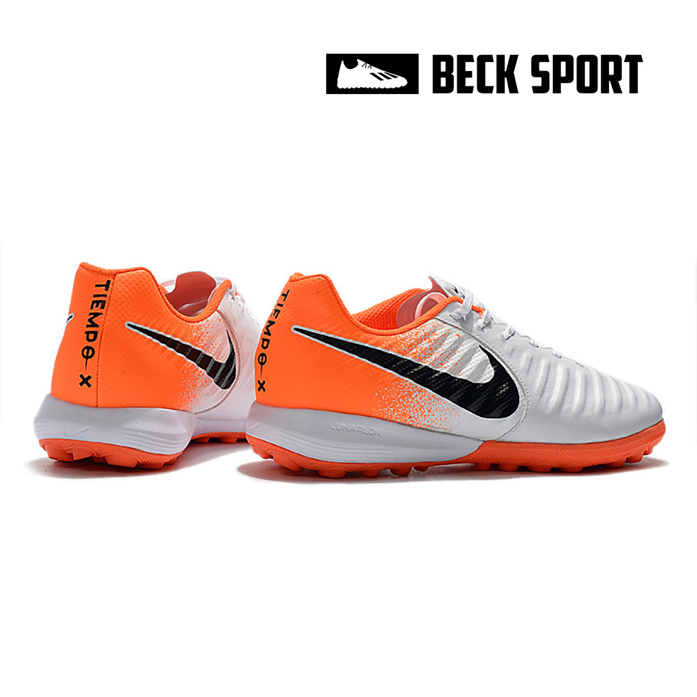 Giày Bóng Đá Nike Tiempo Lunar Legend 7 Pro Trắng Gót Cam TF