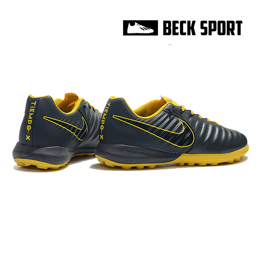Giày Bóng Đá Nike Tiempo Lunar Legend 7 Pro Xám Đế Vàng TF