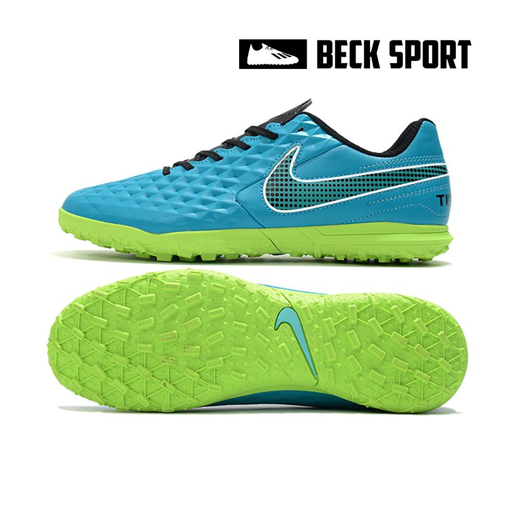 Giày Bóng Đá Nike Tiempo Legend 8 Club EURO Xanh Ngọc Vạch Đen TF