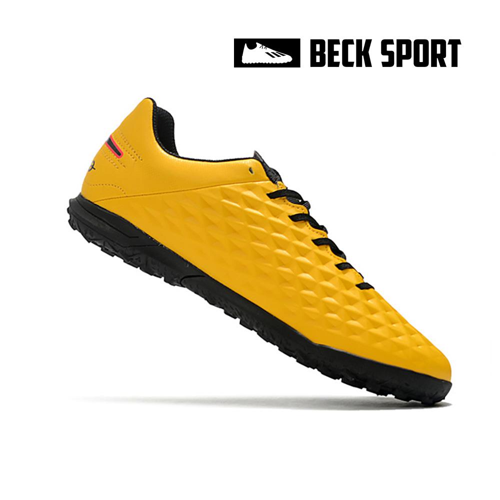 Giày Bóng Đá Nike Tiempo Legend 8 Club Vàng Vạch Đen TF