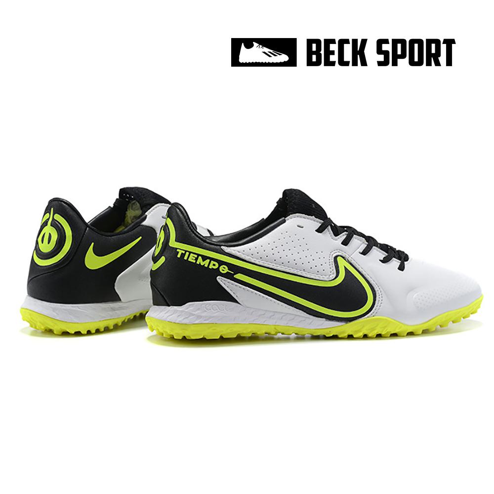 Giày Bóng Đá Nike React Tiempo Legend 9 Pro Trắng Đen Đế Vàng TF