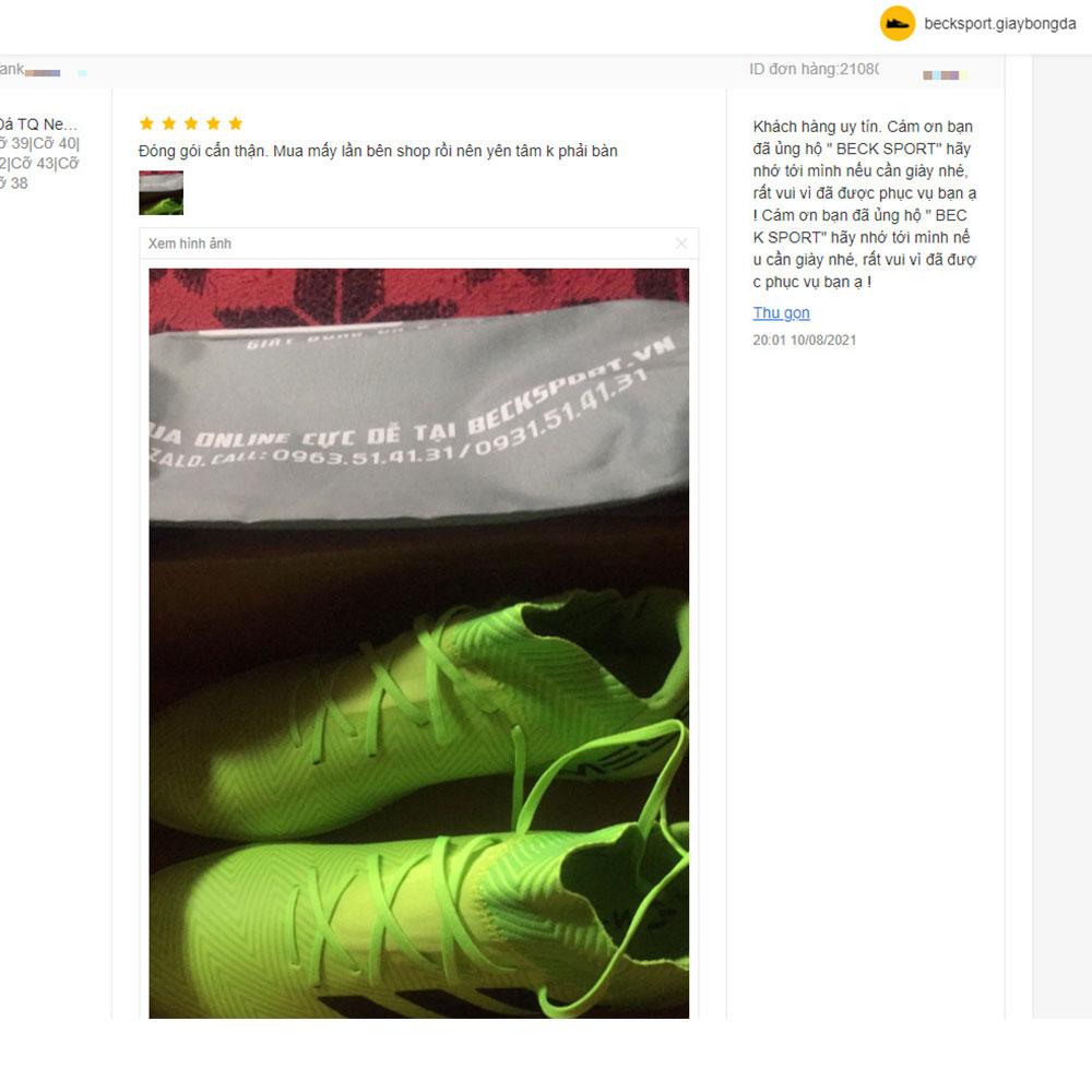 Giày Bóng Đá Adidas Nemeziz 18.3 Messi Xanh Lá Vạch Đen Cổ Lửng TF