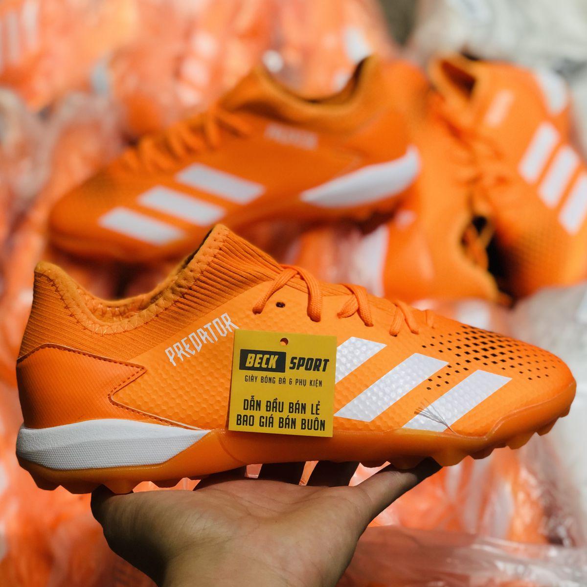 Giày Bóng Đá Adidas Predator 20.3 Cam Vạch Trắng Cổ Lửng HQ TF