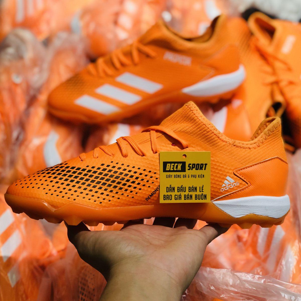 Giày Bóng Đá Adidas Predator 20.3 Cam Vạch Trắng HQ TF