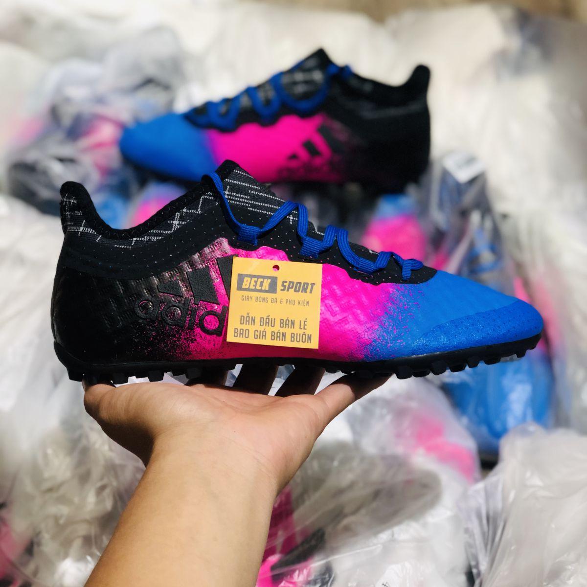 Giày Bóng Đá Adidas X 16.1 Tango Đen Hồng Xanh Biển TF