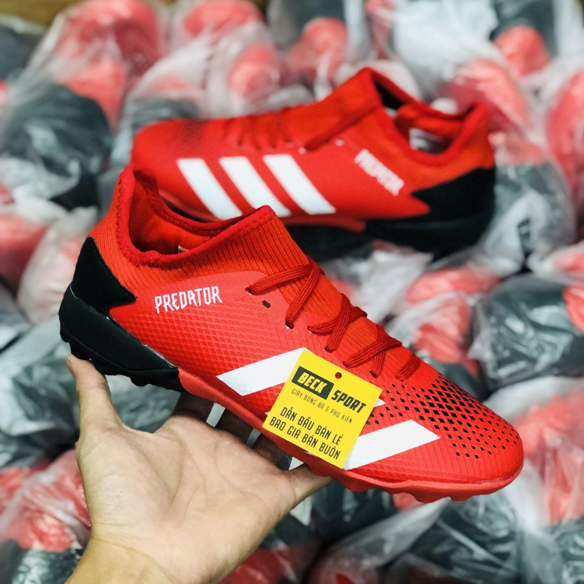 Giày Bóng Đá Adidas Predator 20.3 Đỏ Vạch Trắng TF