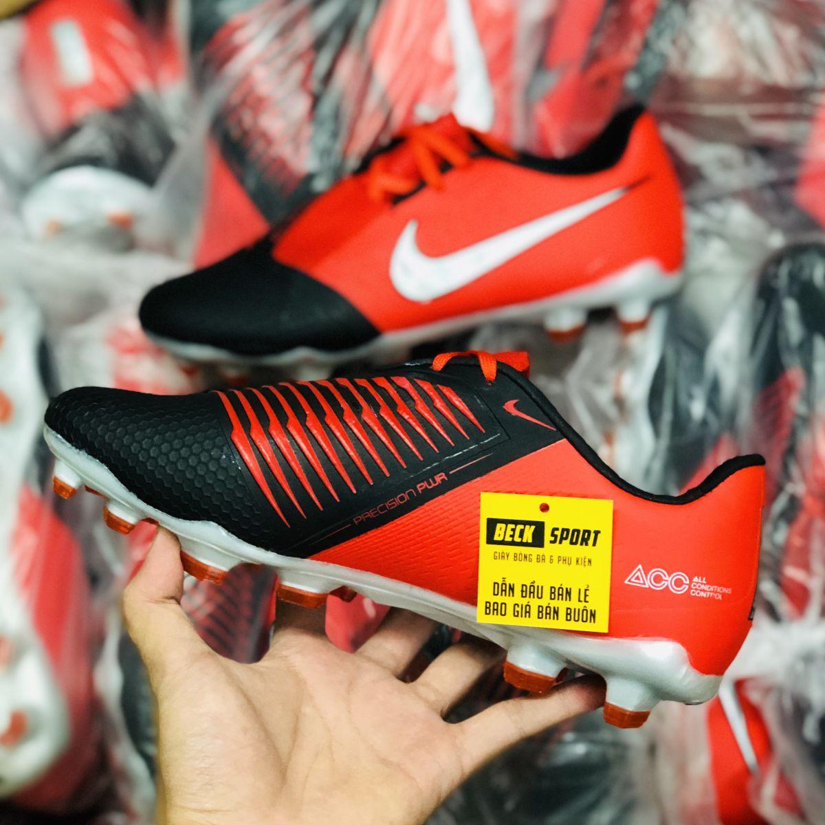 Giày Bóng Đá Nike Phantom VNM Elite Đỏ Đen Vạch Xám Giấu Dây FG