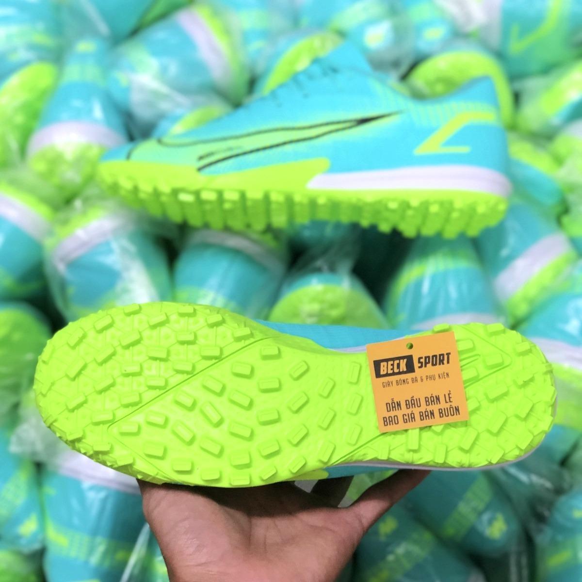 Giày Bóng Đá Nike Mercurial Vapor 14 Academy Xanh Ngọc Vạch Đen HQ TF