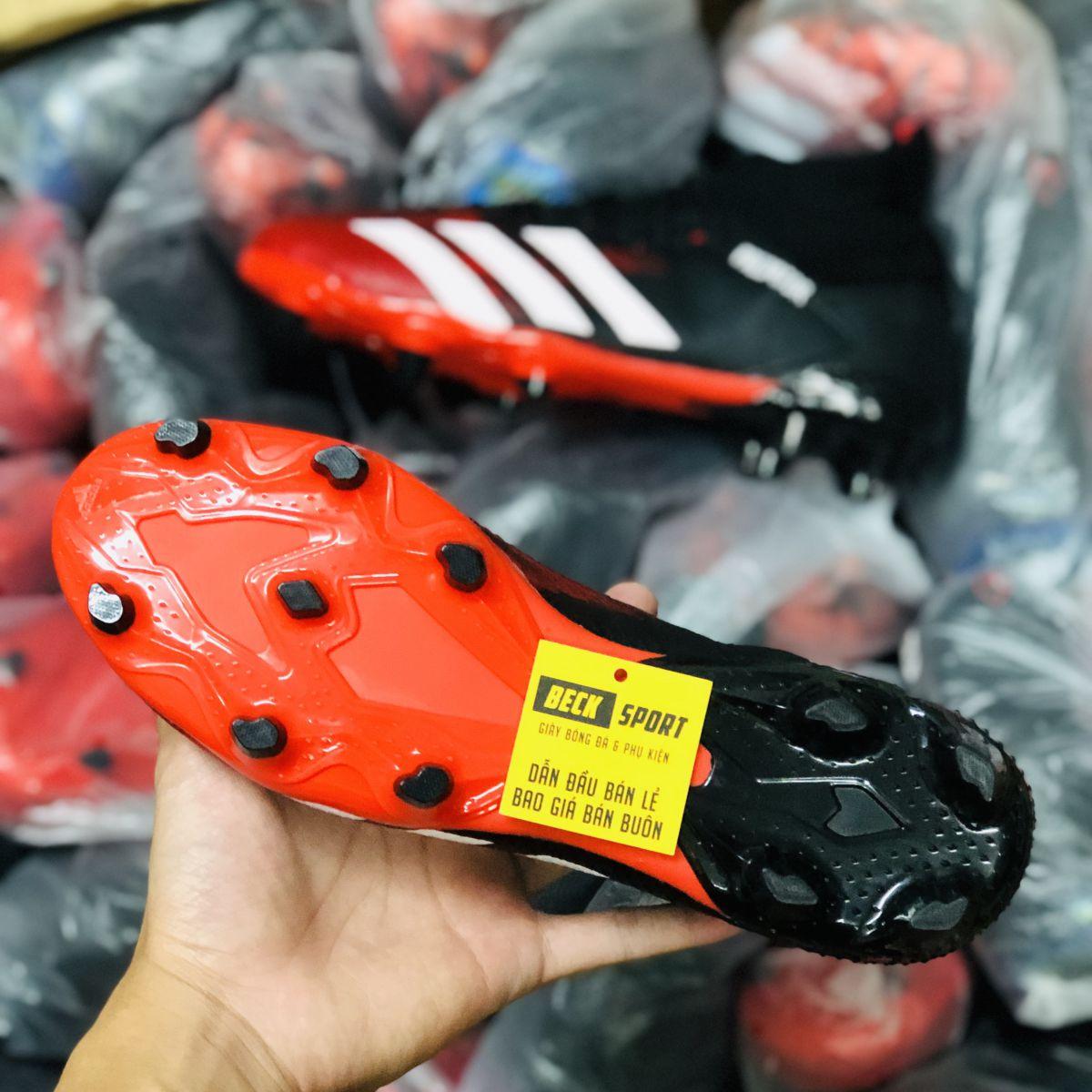Giày Bóng Đá Adidas Predator 20.3 Mutator Đen Mũi Đỏ Vạch Trắng Cao Cổ FG