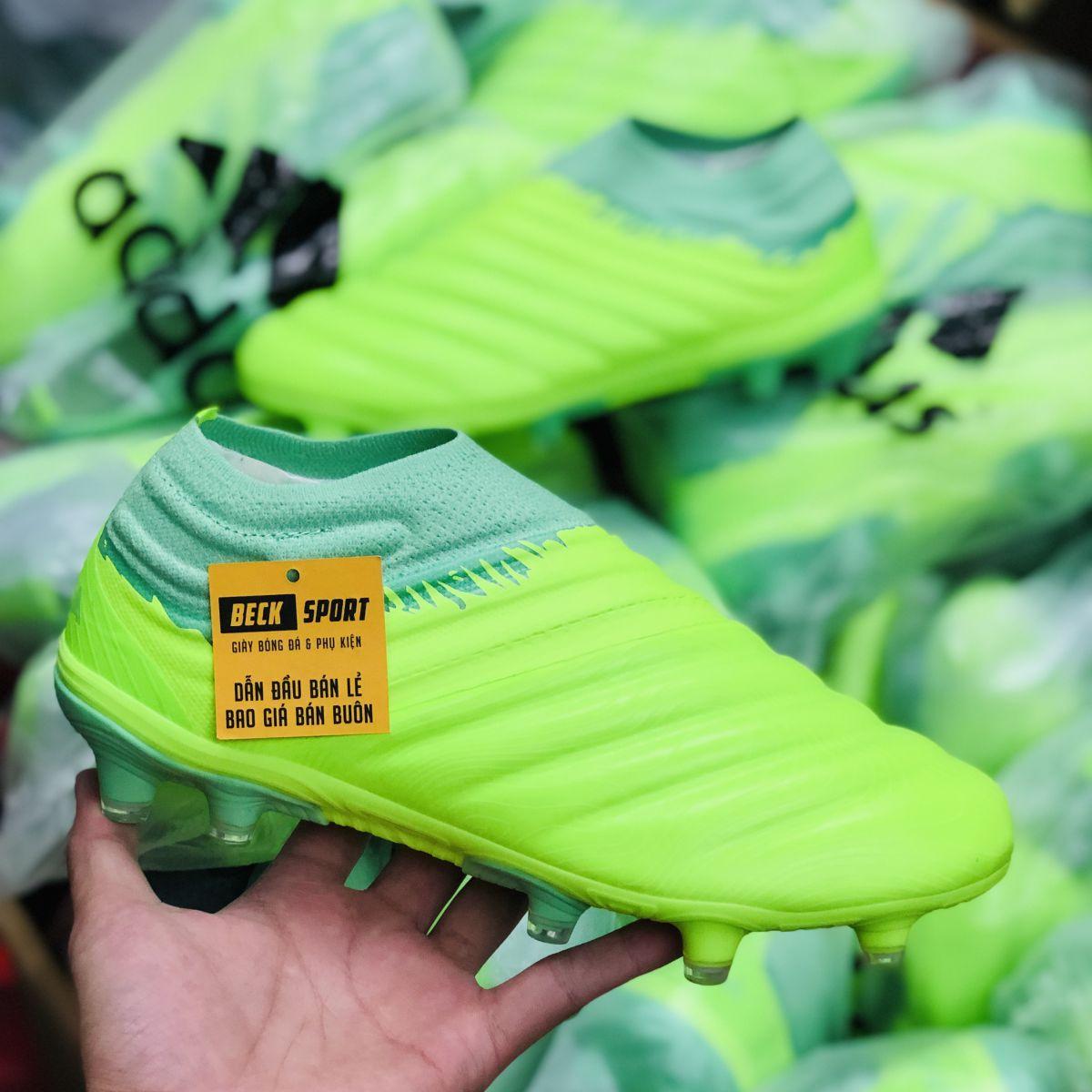 Giày Bóng Đá Adidas Copa 20+ Locality Nõn Chuối Không Dây FG