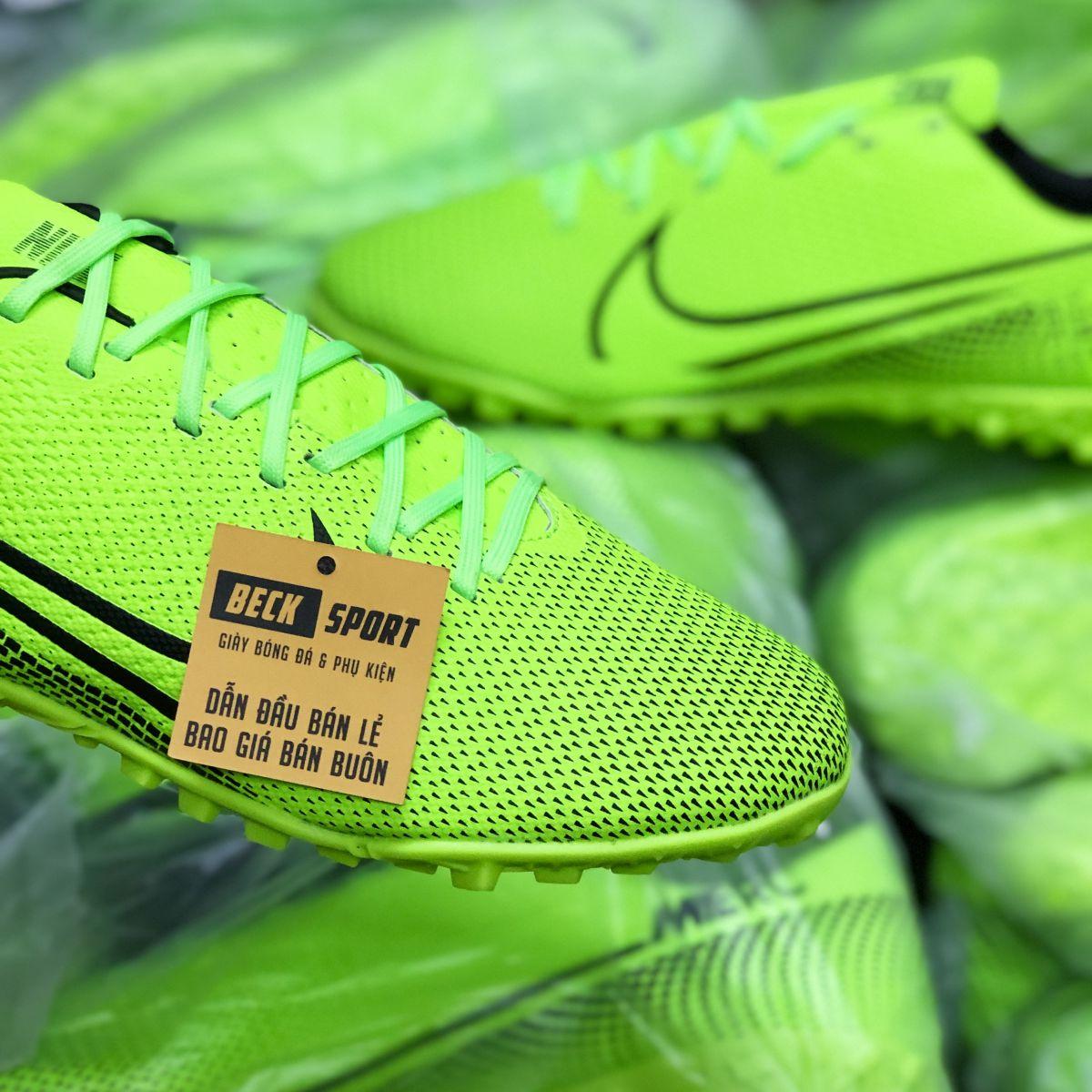 Giày Bóng Đá Nike Mercurial 13 Academy Xanh Lá Vạch Đen TF